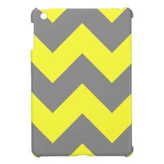 Yellow and Gray Chevron Patern iPad Mini Cases