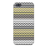 Yellow and Gray Chevron Zigzag Stripe Pattern Case For iPhone SE/5/5s