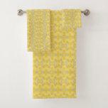 Yellow and Gray Color Splash Bath Towel Set