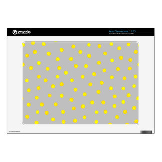Yellow And Gray Confetti Dots Acer Chromebook Skins