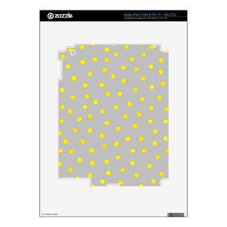 Yellow And Gray Confetti Dots iPad 3 Decal