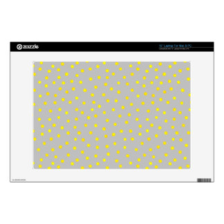 Yellow And Gray Confetti Dots Laptop Decals