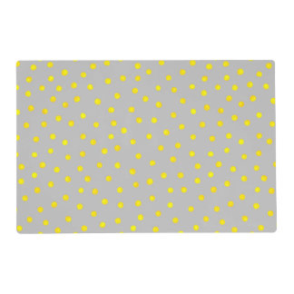 Yellow And Gray Confetti Dots Placemat