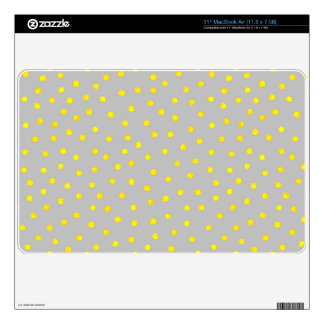 Yellow And Gray Confetti Dots Skin For MacBook Air