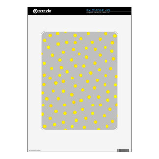 Yellow And Gray Confetti Dots Skins For The iPad