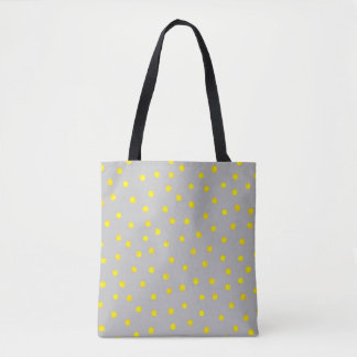 Yellow And Gray Confetti Dots Tote Bag