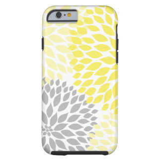 Yellow and Gray Dahlia cell phone cover