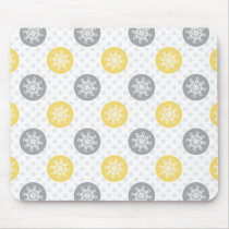 yellow and gray Doodle Holiday Icons Mouse Pad