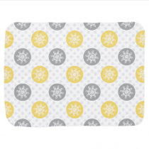 yellow and gray Doodle Holiday Icons Receiving Blanket