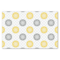 yellow and gray Doodle Holiday Icons Tissue Paper