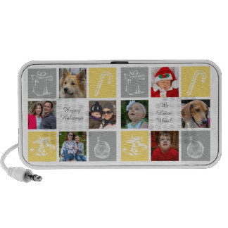 yellow and gray eight photos collage photo speaker