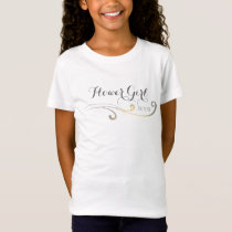 Yellow and Gray Faded Flourish Wedding T-Shirt