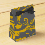 Yellow and Gray Floral Chic Party Favor Boxes