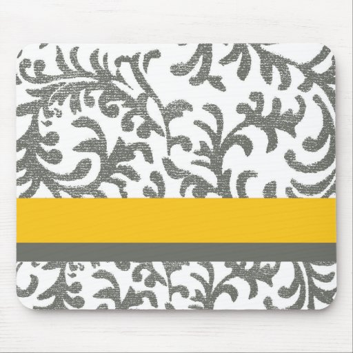 Yellow And Gray Floral Pattern Yellow and Gray Floral...