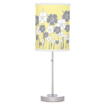 Yellow and Gray Flower Table Lamp