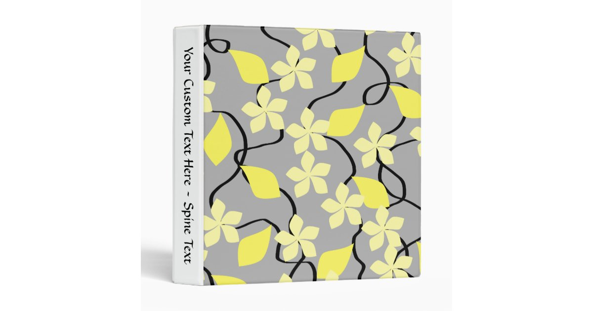 Yellow And Gray Floral Pattern Yellow and Gray Flower...
