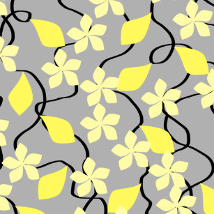 Yellow flower pattern decorative ceramic tiles zazzle yellow and gray flowers floral pattern ceramic tile mightylinksfo