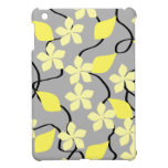 Yellow and Gray Flowers. Floral Pattern. Case For The iPad Mini