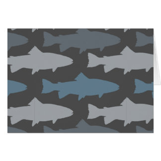 Yellow and Gray Fun Trout Fish Pattern Card