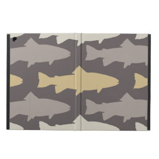 Yellow and Gray Fun Trout Fish Pattern Case For iPad Air
