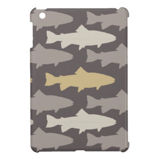 Yellow and Gray Fun Trout Fish Pattern Cover For The iPad Mini