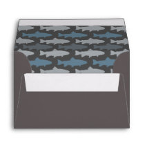 Yellow and Gray Fun Trout Fish Pattern Envelope