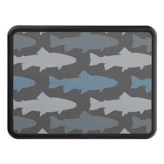 Yellow and Gray Fun Trout Fish Pattern Hitch Cover