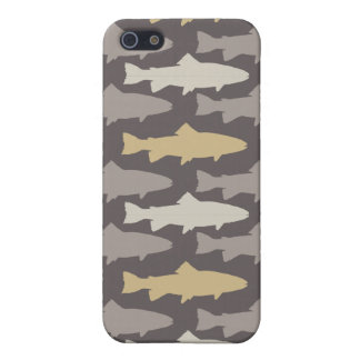 Yellow and Gray Fun Trout Fish Pattern iPhone SE/5/5s Cover