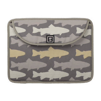 Yellow and Gray Fun Trout Fish Pattern Sleeve For MacBooks