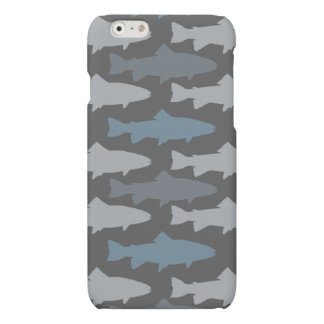 Yellow and Gray Fun Trout Fish Pattern Matte iPhone 6 Case