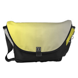 Yellow And Gray Large Messenger Bag