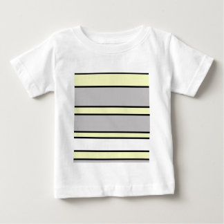 Yellow and gray lines baby T-Shirt