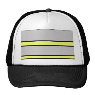 Yellow and gray lines trucker hat