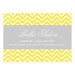 Yellow and Gray Modern Chevron Stripes Business Card Template
