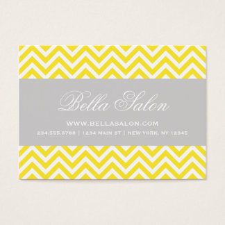 Yellow and Gray Modern Chevron Stripes Business Card
