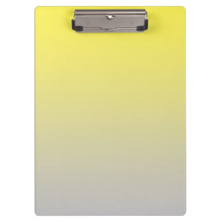 """""""Yellow And Gray Ombre"""" Clipboard"""
