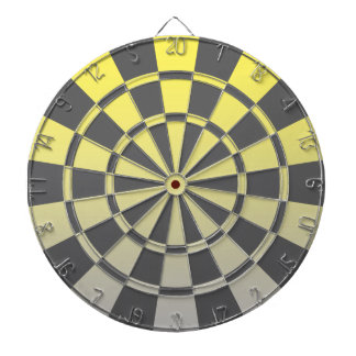 Yellow And Gray Ombre Dartboard