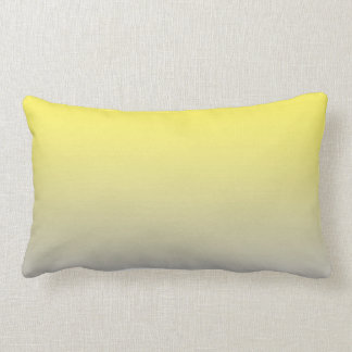 """Yellow And Gray Ombre"" Lumbar Pillow"