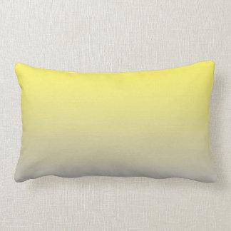 """Yellow And Gray Ombre"" Lumbar Pillow"