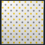 "Yellow and Gray Polka Dots Cloth Napkin<br><div class=""desc"">Printed with original watercolor polka dots.</div>"