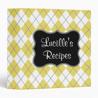 Yellow and Gray Recipe Binder