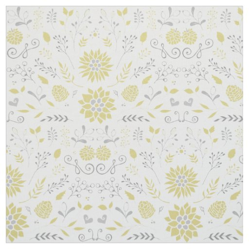 Yellow And Gray Floral Pattern Yellow and Gray Rustic...