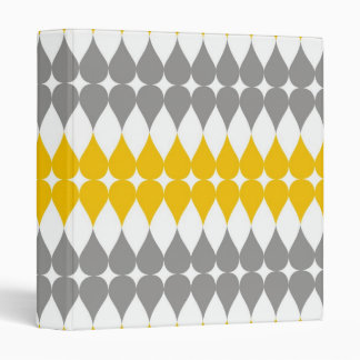 Yellow And Gray Tear Drop Pattern Binder