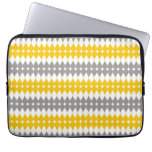 Yellow And Gray Tear Drop Pattern Laptop Sleeve 13