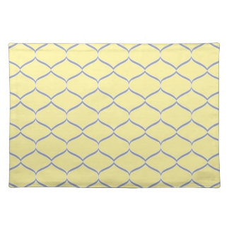 Yellow and Gray Teardrop Cloth Placemat