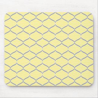 Yellow and Gray Teardrop Mousepad
