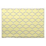 Yellow and Gray Teardrop Placemats