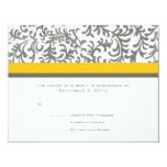 Yellow and Gray Wedding RSVP Custom Invitations