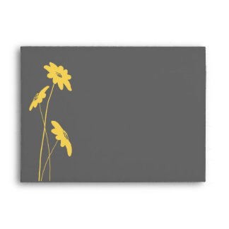 Yellow and Gray Wildflowers Envelope