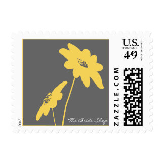 Yellow and Gray Wildflowers Stamp